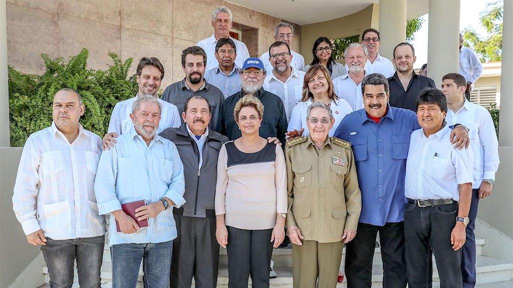 Presidentes, ex-presidentes e intelectuais brasileiros foram recebidos por Raúl Castro, nas despedidas de Fidel