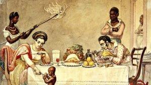 Neste detalhe de uma pintura de Debret, ainda no Século XVIII, está desenhado o sistema sobre o qual o Brasil foi construído. E segue governado