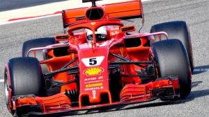 Vettel larga na frente, neste domingo, no circuito do Bahrain