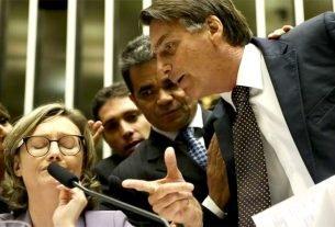 Bolsonaro (PSL-RJ) ameaça a deputada Maria do Rosário (PT-RS) de agressão física