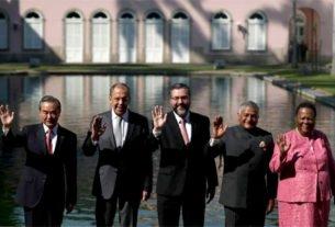 Os representantes do BRICS reúnem-se no Palácio do Itamaraty, Centro do Rio de Janeiro