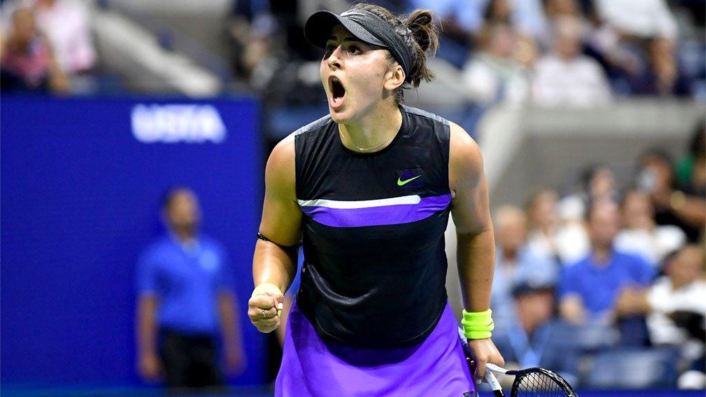 Andreescu superou a tenista veterana Serena Williams, na quadra rápida de Nova York
