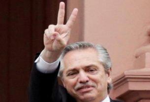 Presidente da Argentina, Alberto Fernández, na Casa Rosada, em Buenos Aires