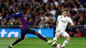 Clássico Barcelona x Real Madrid no Santiago Bernabéu