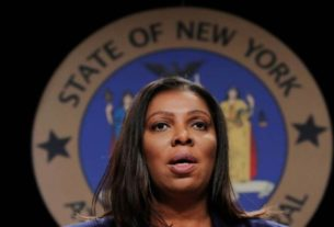 Procuradora Letitia James durante evento em Nova York