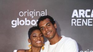 "Erika Januza e Marcello Melo Jr do elenco de ""Arcanjo Renegado"""