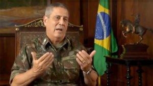 O general Braga Neto comandou a intervenção militar no Estado do Rio de Janeiro