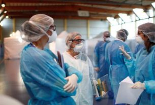 Um aumento de casos de coronavírus submeterá a França a uma pressão enorme nos próximos dias