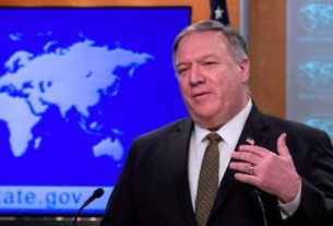 Secretário de Estado norte-americano, Mike Pompeo