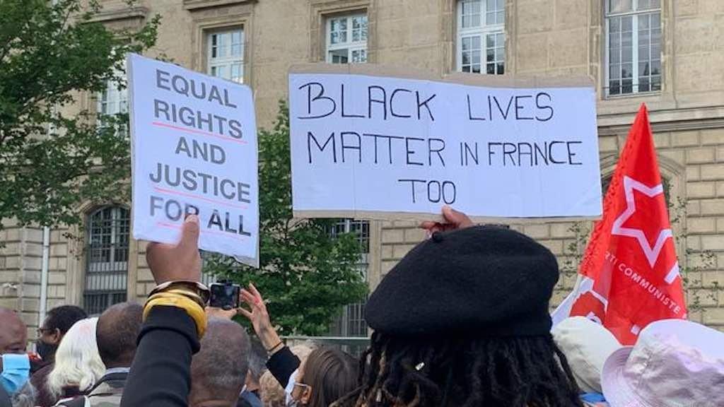 """""""Vidas negras importam também na França"""": protesto em Paris"""