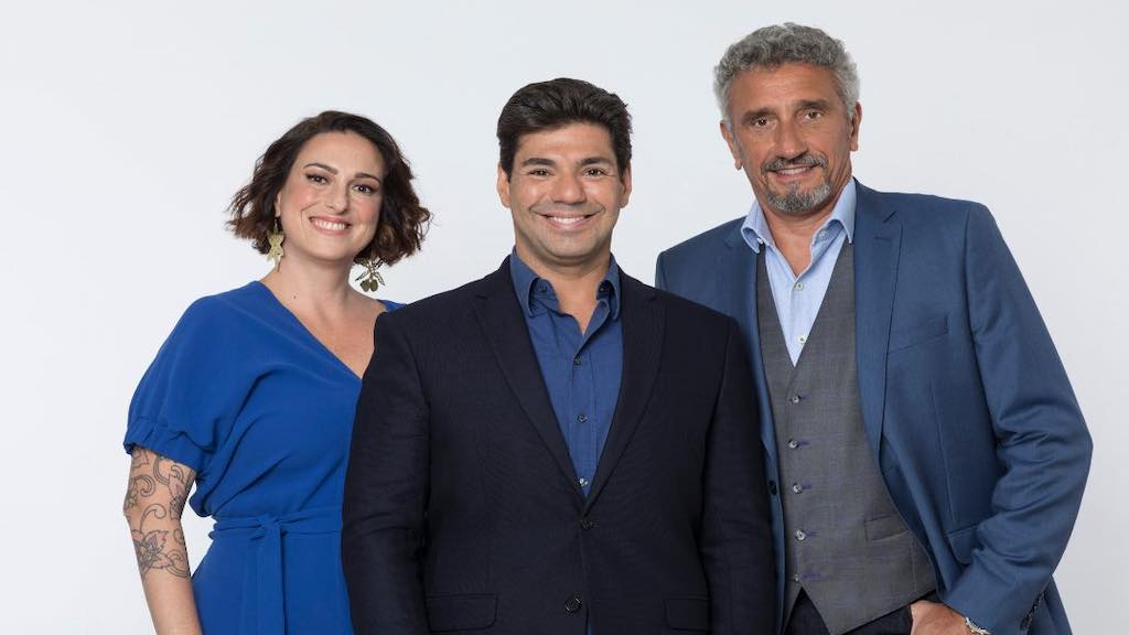 "Felipe Bronze, Ailin Aleixo e Emmanuel Baisoleil, do ""Top Chef"""