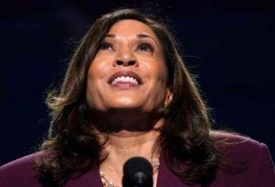 Senadora dos EUA Kamala Harris aceita indicação à candidatura a vice-presidente pelo Partido Democrata