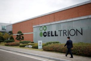 Logo da Celltrion na sede da farmacêutica em Incheon, Coreia do Sul